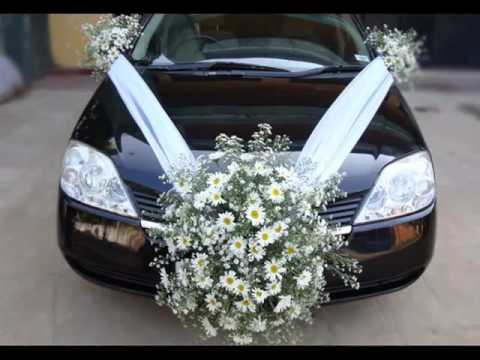 Wedding Car Decoration Back | Pictures Of Car Decor - YouTube