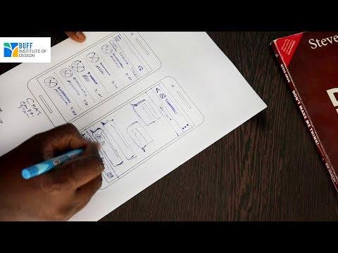 Layout  Sketch For Chatting Mobile App    UX Designing   UX Design Sketch Tutorial