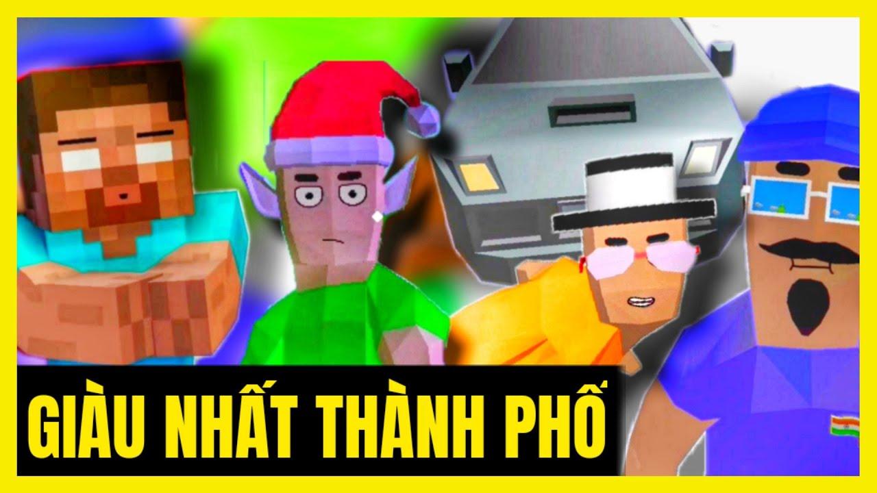 Game lớp học | [ Dude Theft Wars ] KHI THẦY GIÀU NHẤT THÀNH PHỐ | GAME CÙNG LỚP HỌC  
