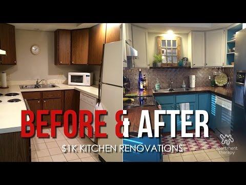 Apartment Kitchen Makeover on a budget!   DIY   Kitchen ...