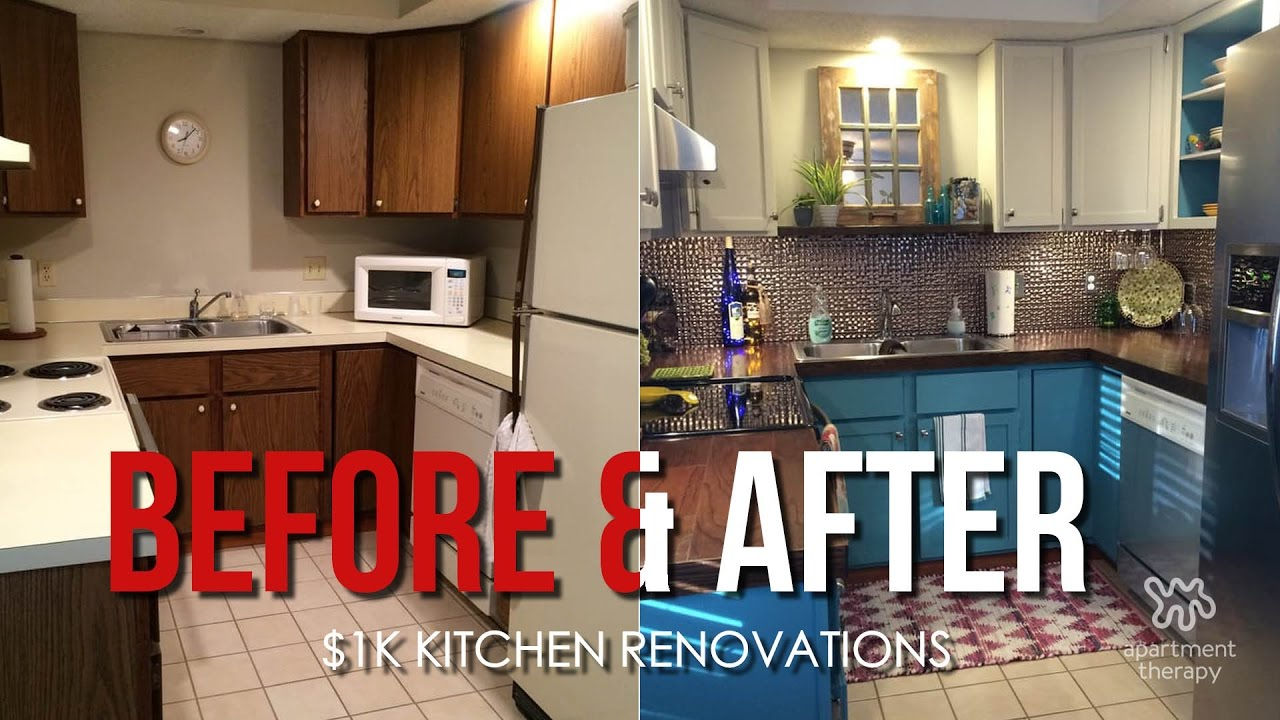 Before After Kitchen Renovations Under 1k Youtube