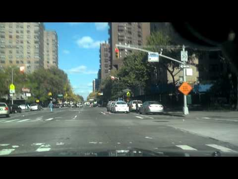 Driving in harlem new york city