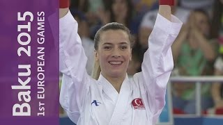 Serap Ozcelik defeats Bettina Plank to win Gold | Karate | Baku 2015 European Games