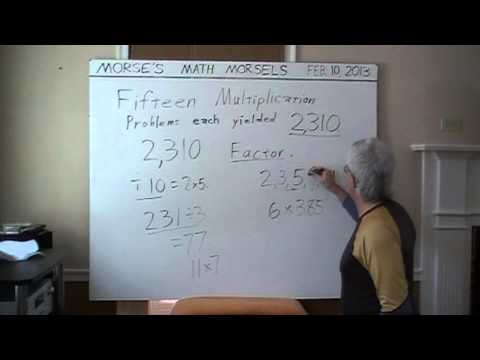Mathematics - Product of each multiplication is 2310 - why ?