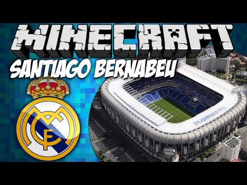 REAL MADRID stadium tour: Santiago Bernabeu (Minecraft) w/ commentary [HD]