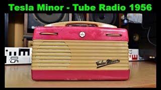 Tesla Minor 3001B Radio - Portable Tube Tesla Radio - Vintage Retro Röhren Radio