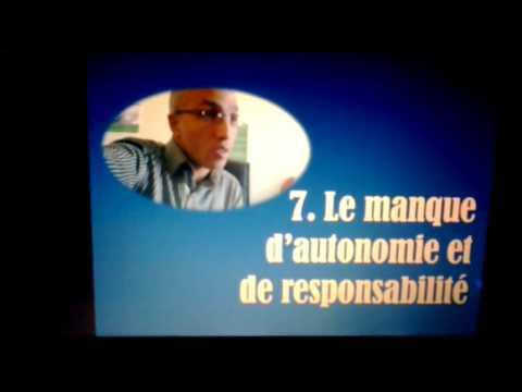 Les consequences des erreurs d'education - Le maque d'autonomie et de responsabilité- 7/8