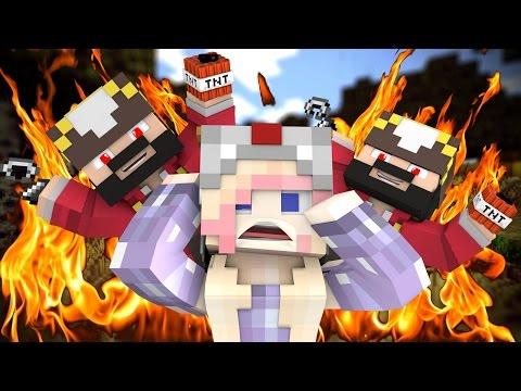 Super Rude Girl Trolled on Minecraft (minecraft trolling & griefing)