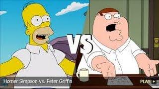 Homer Simpson Vs Peter Griffin - Chicken Fight