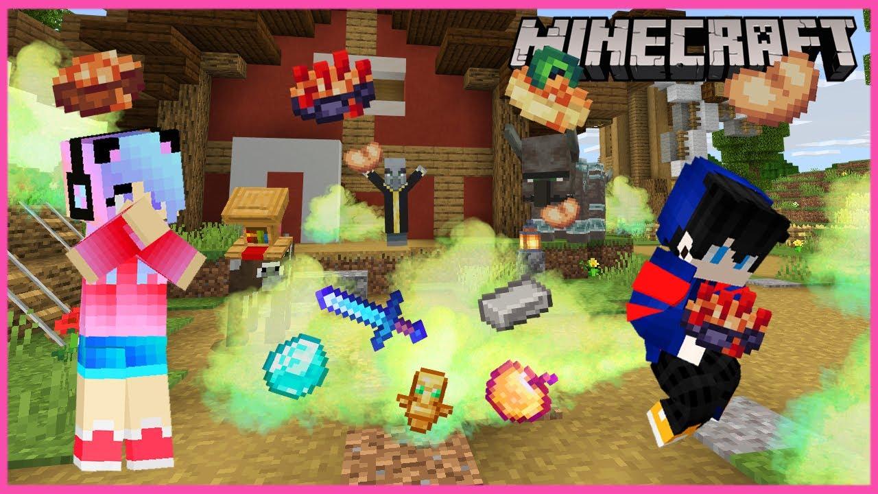 MineCraft มายคราฟเมื่อเรากับพวก Mob กินถั่วแล้วตดระเบิดดร๊อปของดี op
