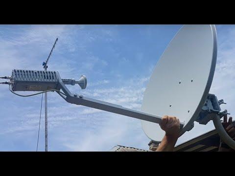 Спутниковый интернет в деревню, своими руками!