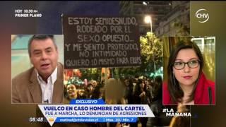 Denuncian al hombre del cartel en marcha #NiUnaMenos - La Mañana