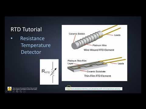 RTD PT100 (Resistance Temperature Detector) Tutorial