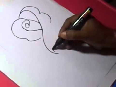How to draw ROSE FLOWER DRAWING for kids step by step