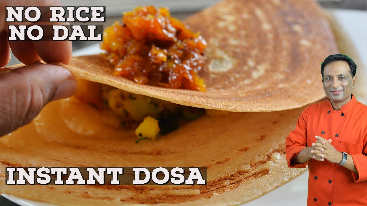 Download Instant Dosa - No Rice - No Dal - How To Make Crispy Dosa Batter With Whole Wheat Flour -Dosa Recipe