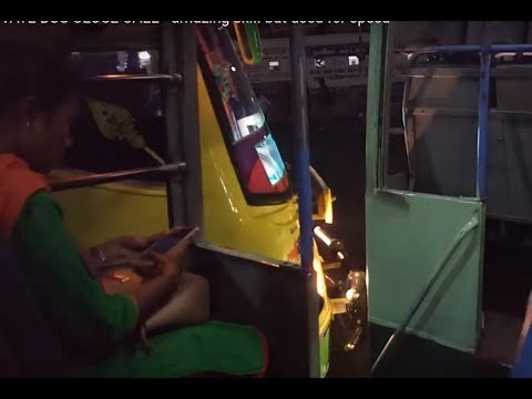 PRIVATE BUS DRIVER GOOD SKILL - But used for speed - THOUGHT ALMOST HIT THE TNSTC BUS