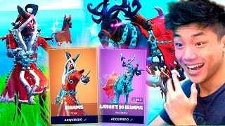 I BOUGHT EVERYTHING FROM THE NEW LEGENDARY SKIN KRAMPUS!! FORTNITE: BATTLE ROYALE