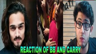 REACTION OF CARRY AND BB TO  GIRLS