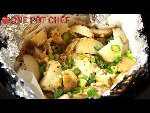 Slow Cooker Cheese And Bacon Potatoes | One Pot Chef