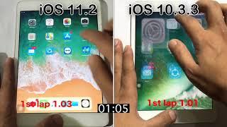 iOS 11.2 vs iOS 10.3.3 speed test on iPad mini 2 | should you update ?