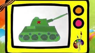 Как нарисовать танк ко Дню Победы (9 мая)? ПРОФЕССОР_КАРАПУЗ