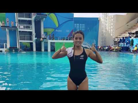 Sophomore Diver Lizzie Cui makes New Zealand Olympic diving history