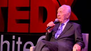 The Only Thing I Regret Is Not Dreaming Big Enough | Shimon Peres | TEDxWhiteCity