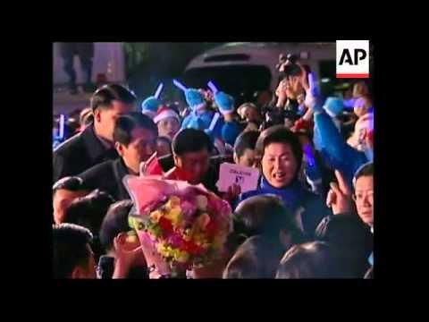 Lee Myung-Bak celebrates election as next SKorean president