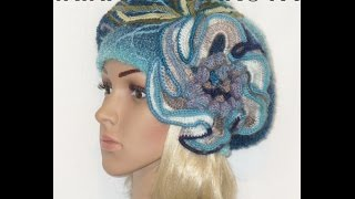 Красивые вязаные береты. Beautiful Crochet beret