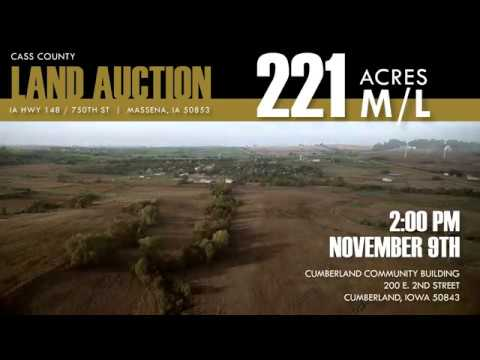 221 Acre m/l Auction - Cass County, Iowa