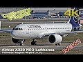 New Airbus A320 Neo`[4K] Lufthansa Delivery Flight Wing Wave! (D-AINT)