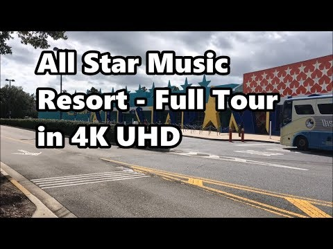 Disneys All Star Music Resort  Full Tour in 4K UHD  Walt Disney World