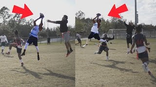 THE MOST EPIC FLAG FOOTBALL GAME ON ALL OF YOUTUBE