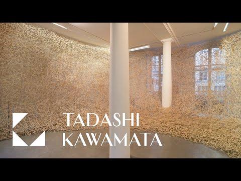 tadashi kawamata weaves 100,000 chopsticks into an immersive, parasitic 'nest'