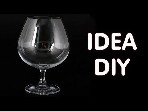 Идея чудесной поделки из стеклянного бокала