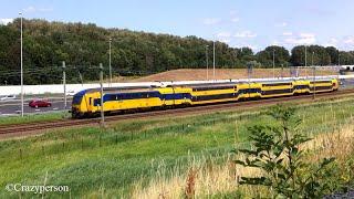 NS DDZ intercity dubbeldekker trein nabij Zoetermeer naar Den Haag Centraal