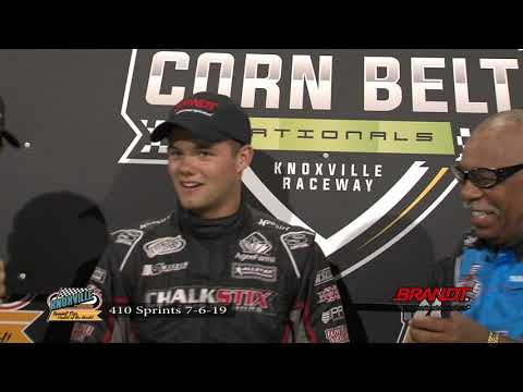 Knoxville Raceway 410 Highlights and Victory Lane - July 6, 2019
