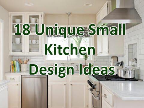 18 Unique Small Kitchen Design Ideas - DecoNatic - YouTube on Tiny Kitchen Remodel Ideas  id=60006