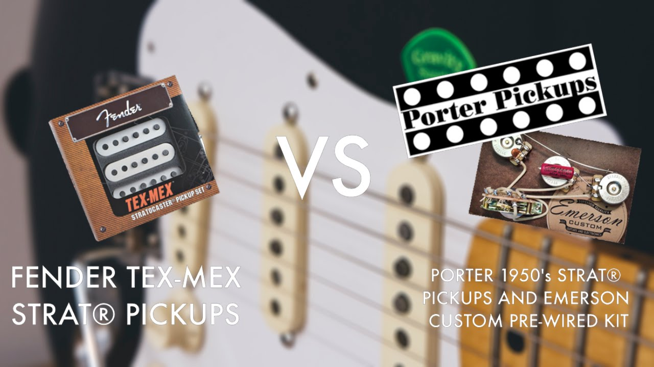 Emerson Custom Stratocaster Blender Wiring Diagram 50 Fender Tex Mex Maxresdefault Stock Pickups Vs Porter 1950s Strat Emersom With 5