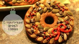 Gingerbread Wreath Cookie