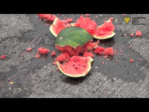 Cycle Safety Helmet testing melon drop Lincolnshire Road Safety Partnership