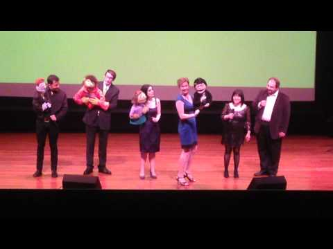 Robyn Goodman honored by Avenue Q original cast at 2014 Lucille Lortel Awards