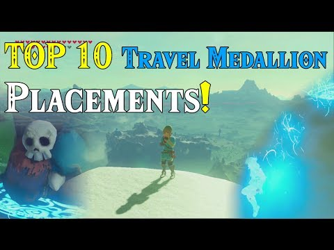 TOP 10 Travel Medallion Placements! BEST Locations in BotW! within Zelda Breath of the Wild DLC