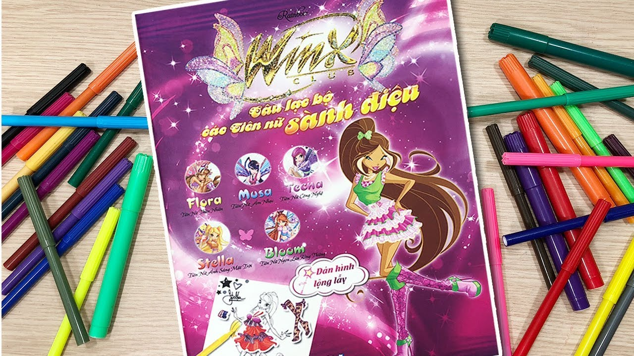 Đồ chơi dán hình váy đầm búp bê WinX club tiên nữ sành điệu Stiker Dolly Dressing (Chim Xinh)