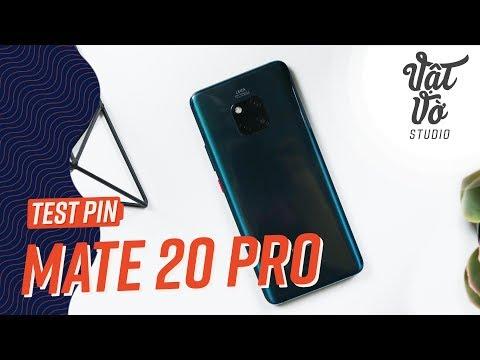 Đánh giá thời gian sử dụng Pin Huawei Mate 20 Pro - YouTube