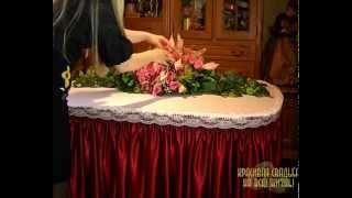 Оформление фуршетного стола. Урок № 4. Фуршетный стол с цветами и зеленью