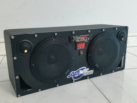 Caixa Som 2 Vias com Placa Mp3 Player Bluetooth + Placa Amplificadora -  www.SOMSC.com.br