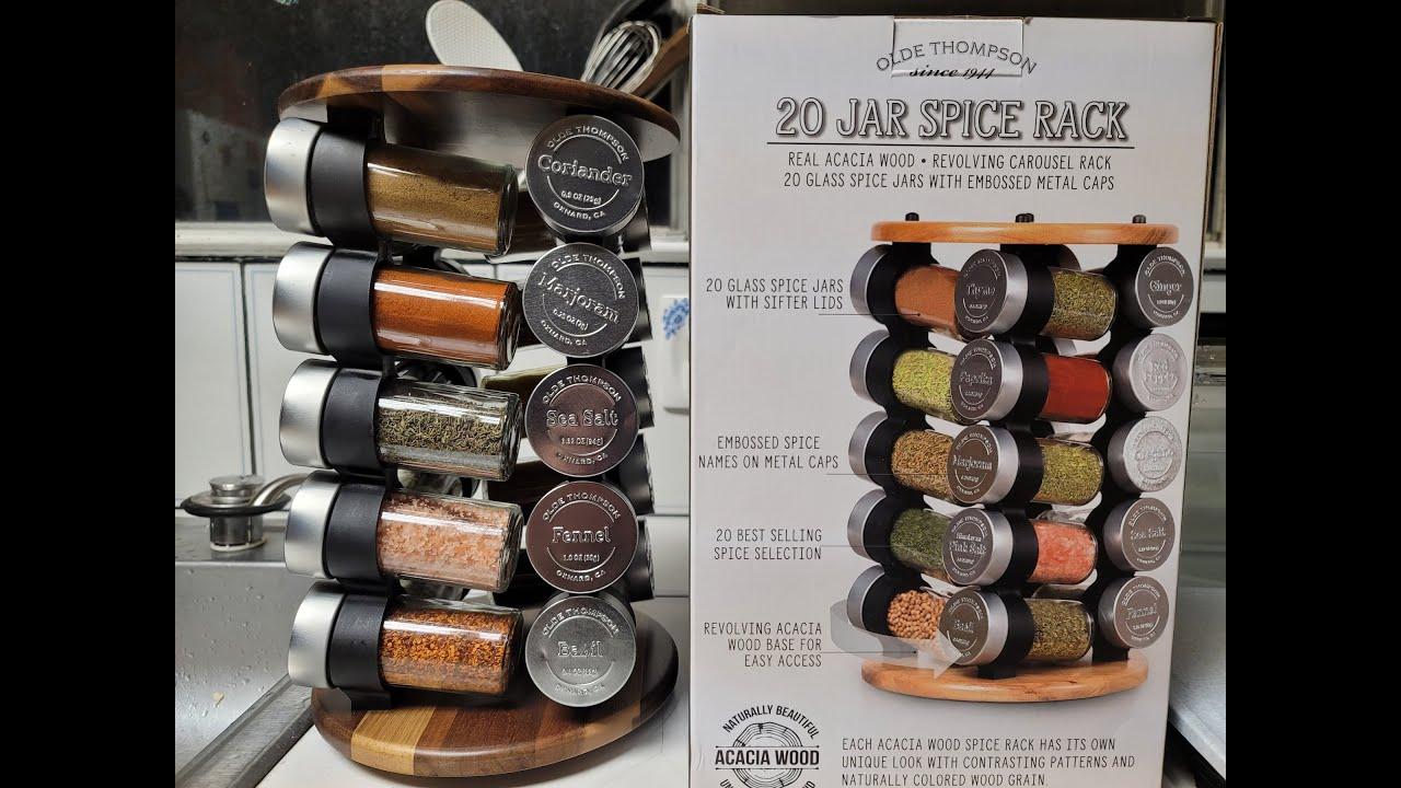 olde thompson 20 jar spice rack on sale at costco 20
