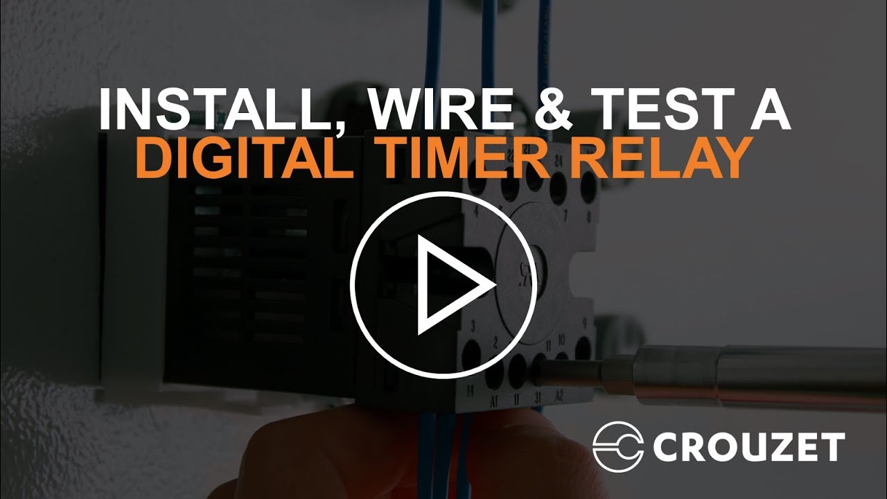 How to Install, Wire & Test a Digital Timer Relay (Syr-line) Dayton Time Delay Relay Wiring Modular on