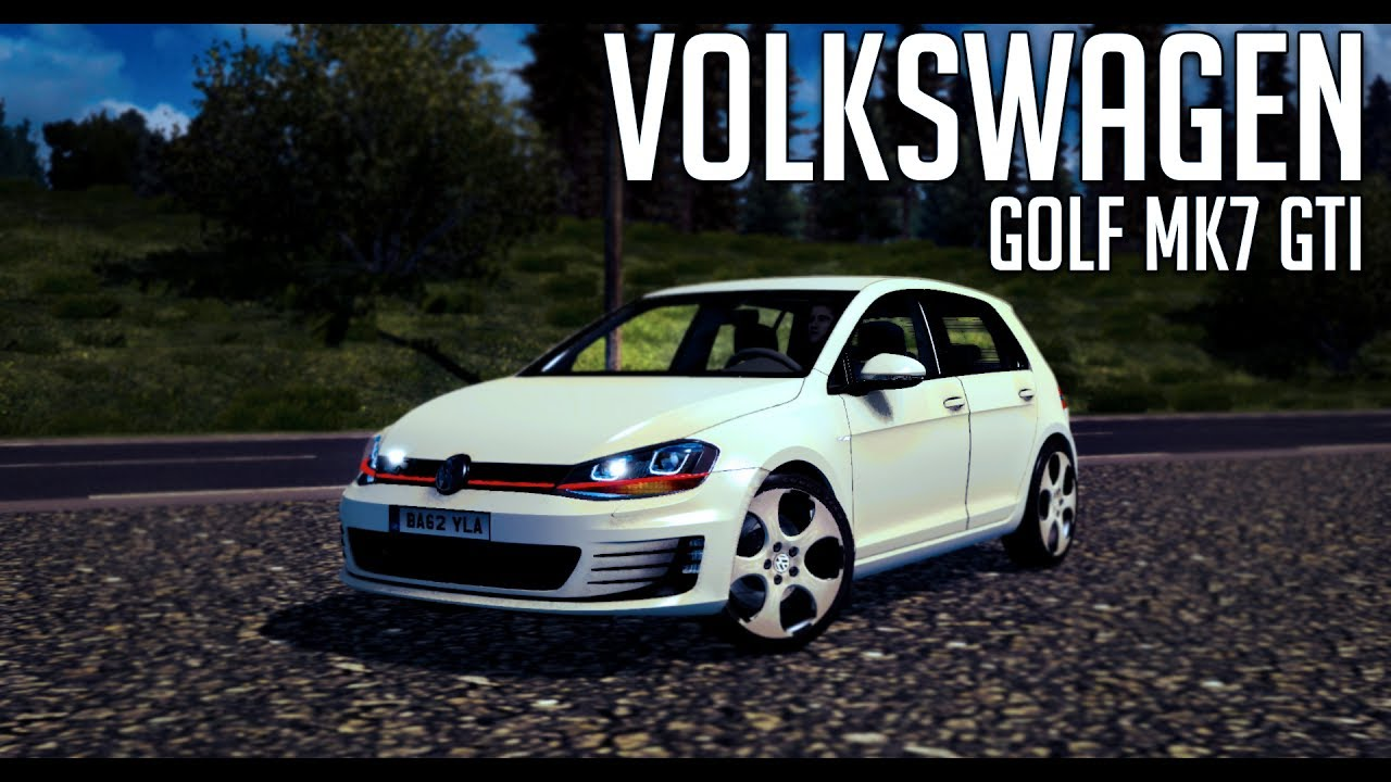 Vw Golf 7 Gti V1 Euro Truck Simulator 2 Ets2 1 27 Mod Youtube